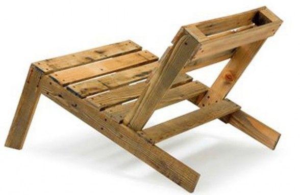 bancos jardin madera reciclada