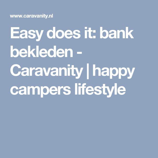 Easy does it: bank bekleden - Caravanity | happy campers lifestyle