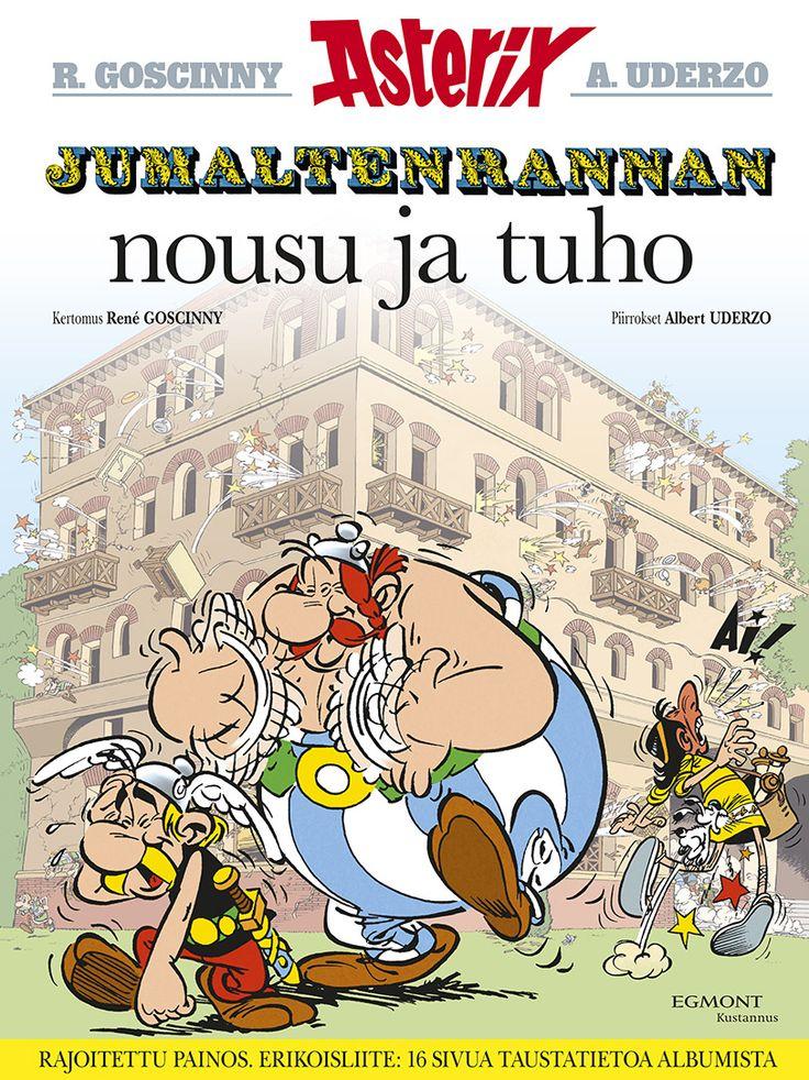 Asterix - Jumaltenrannan nousu ja tuho. Rajoitettu painos. Erikoisliite: 16 sivua taustatietoa albumista.