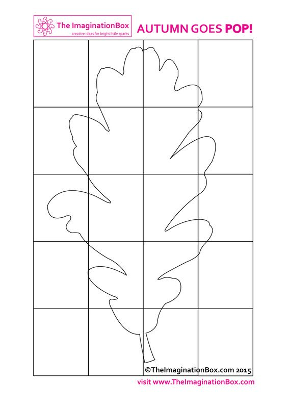 pop art oak leaf printable coloring sheet