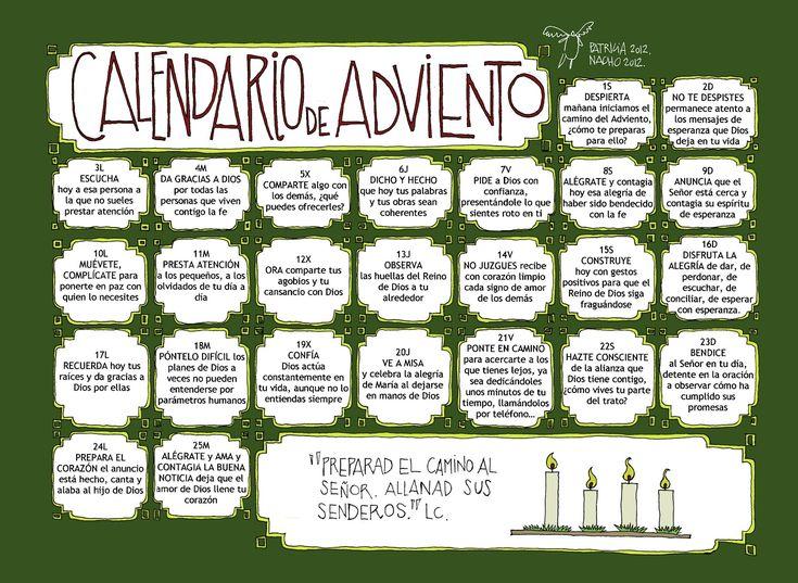 Ideas para Calendario de Adviento para niños con imprimibiles gratuitos