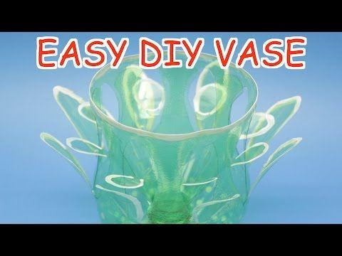 DIY Plastic Bottle Vase for Beginners   Plastic Bottle Crafts Ideas - YouTube