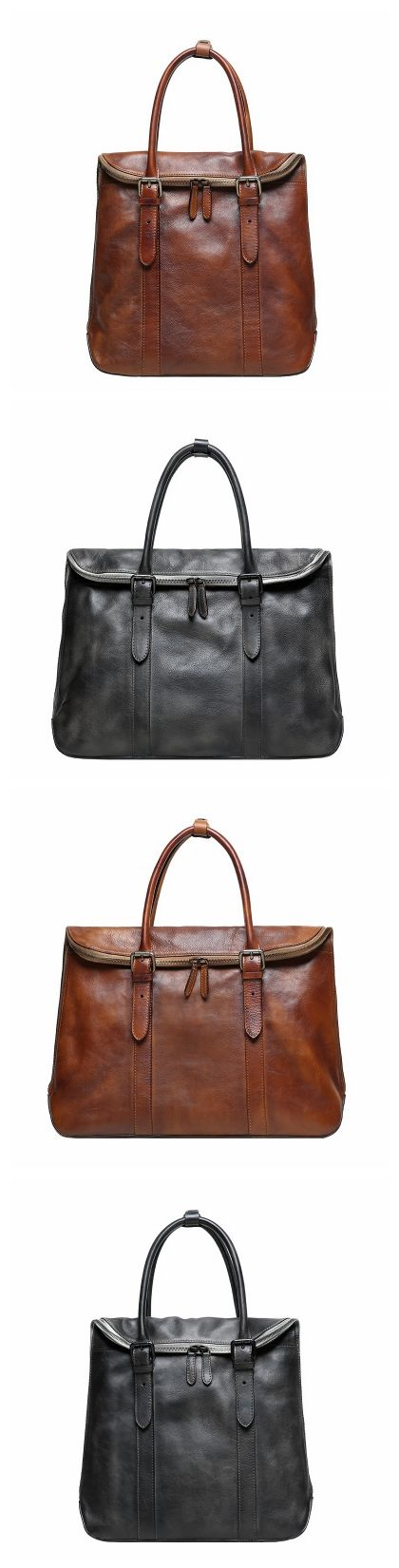 Handmade Vintage Top Grain Leather Briefcase 14'' Leather Laptop Bag Men's Fashion Business Bag GR01 Overview: Design: Men's Leather Briefcase In Stock: 3-5 days For Making Custom: No Color: Vintage B