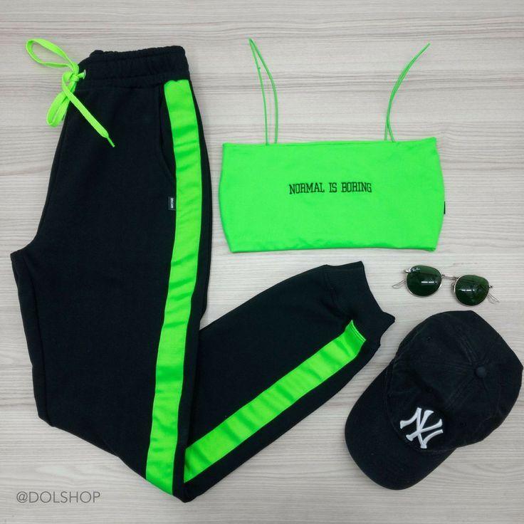 Olhe, já quero que néon verde é a tendência de perfeição – Looks❤️ – #…