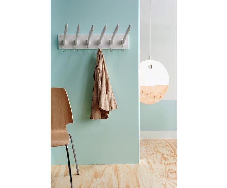 Вешалка - дерево - белый, 74х26 см | Westwing Интерьер & Дизайн
