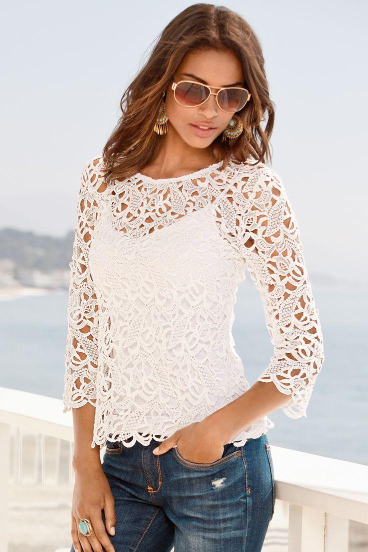 Tunic, blouses, knit tops, crochet sweaters - Boston Proper