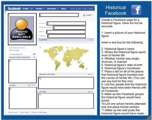 Free Technology for Teachers: Historical Facebook - Facebook for Dead People