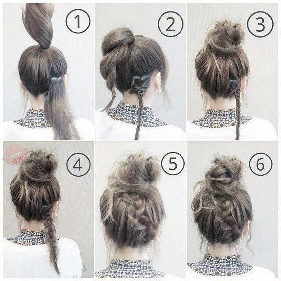 45 Best Easy And Fast Hairstyles For The School Easy Fast Hairstyle Hairstyles School Longhairstyles Medium Hair Styles Easy Hairstyles Work Hairstyles