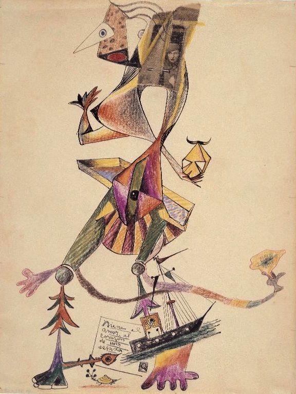 magictransistor: Jacques Hérold, Wifredo Lam, André Breton. Cadavre Exquis. 1940.