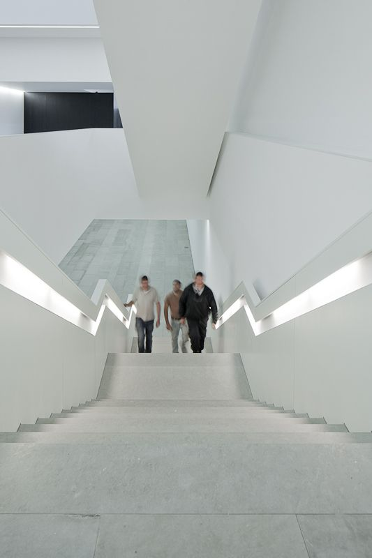 stairs of modern architecture buildings designs the Arts Jose Guimaraes