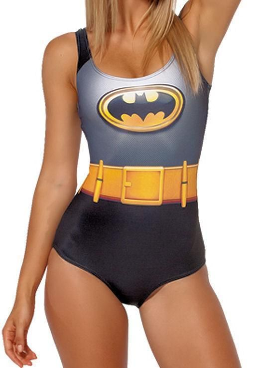 Sexy Batman Comic Book Movie Costume Stretchy Club Rave Bodysuit Costume Leotard…