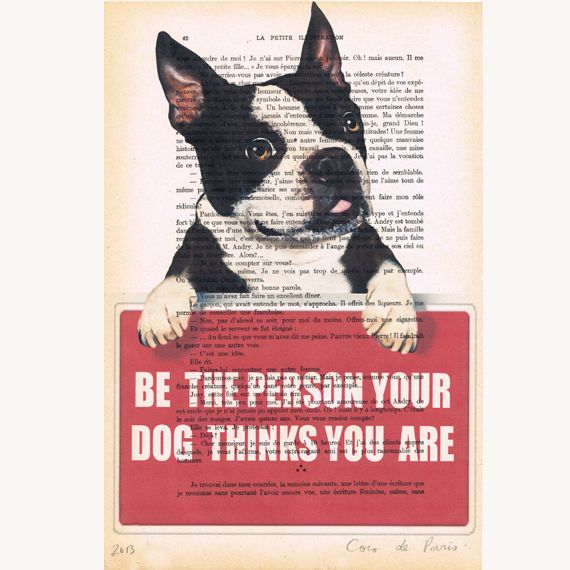Message d'un #chien de Coco De Paris sur DaWanda.com #antistvalentin #dog #quote