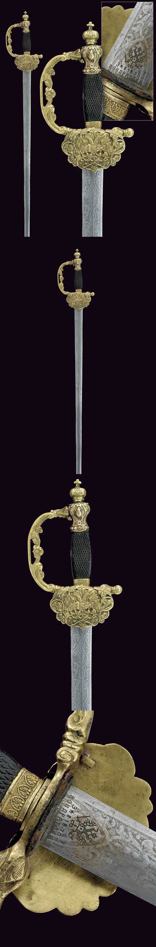 A small-sword    provenance:	 	Russia dating:	 	 third quarter of the 19th Century
