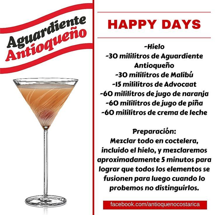 ¡Aguardiente Antioqueño combina con todo! #Aguardiente #Antioqueño #Coctel #Cocktail #Happy #Days
