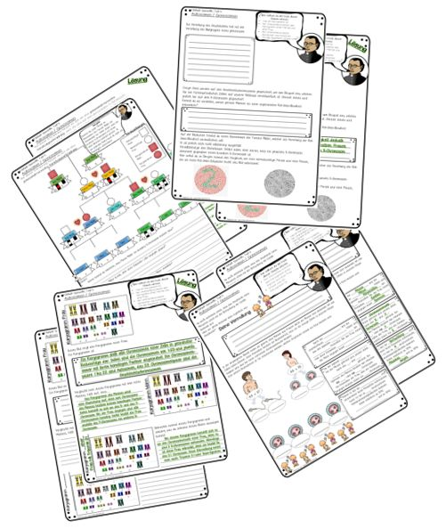Tolle Arbeitsblätter zur Genetik bzw. zur Vererbung. Eine tolle Biologiestunde. Jetzt auf: www.materialtanten.de