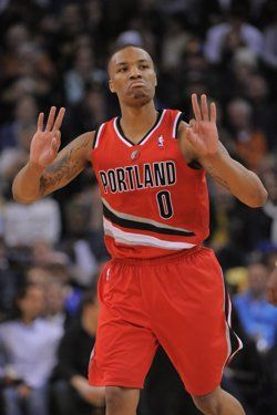 Damian Lillard. My baby makes this face and does the same hand motions when she gets tipsy. What is that!? Lol