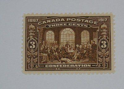 Stamp Pickers Canada 1917 Confederation 3c Scott #135 MNH VF $140+