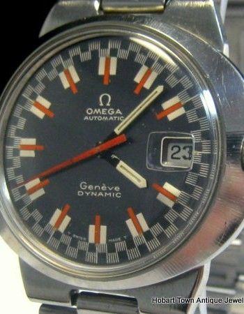 Vintage Omega Rare Dynamic Date Racing Dial Cyclops Original c1969