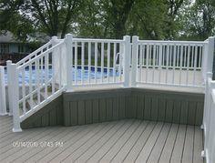 Composite deck around pool