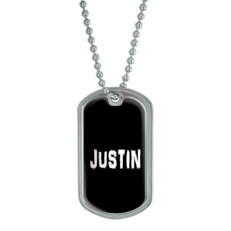 Justin name military dog tag luggage keychain you can