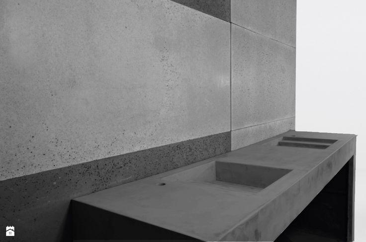 Umywalka z betonu architektonicznego - antracytowa - zdjęcie od Bettoni - Beton Architektoniczny - Łazienka - Styl Nowoczesny - Bettoni - Beton Architektoniczny