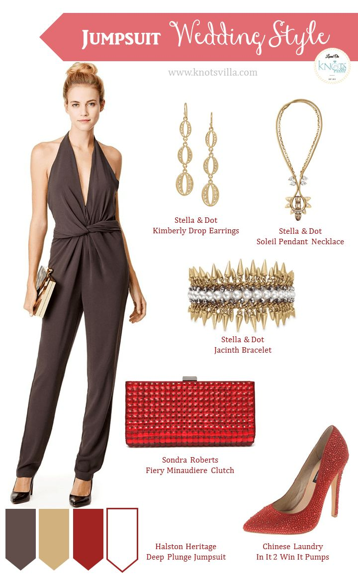 Wedding dress and jacket for guest  The  best images about Jumpsuit on Pinterest