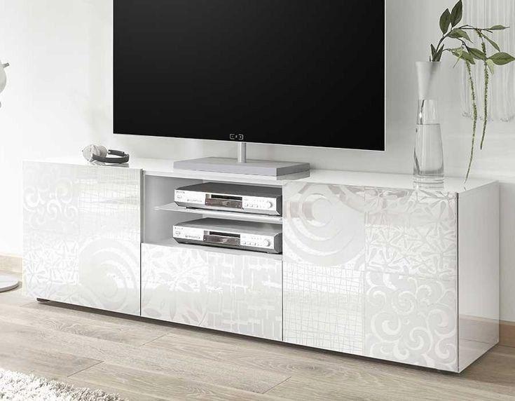 61 Of A Jour Meuble Tv Effet Beton Tvs Flat Screen Table