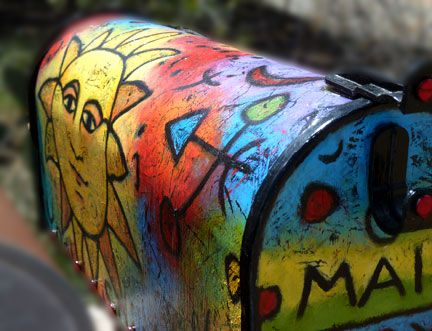 hand painted mailbox designs. Whimsical Painted Mailboxes - Google Search Hand Mailbox Designs O
