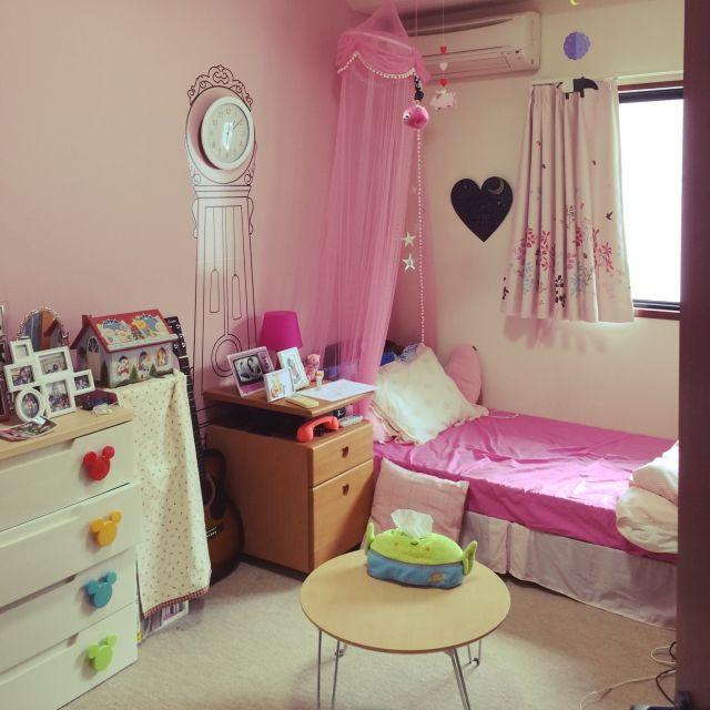 DuckyMOMONAさんの、部屋全体,IKEA,子供部屋,ニトリ,ピンク,プリンセス,子供部屋女の子,プリンセス部屋,のお部屋写真