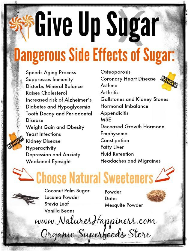 Give Up Sugar. Dangerous Side Effects of Sugar www.NaturesHappiness.com