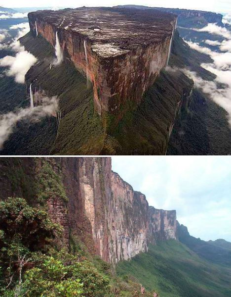 Mount Roraima at the border of Venezuela, Brazil and Guyana
