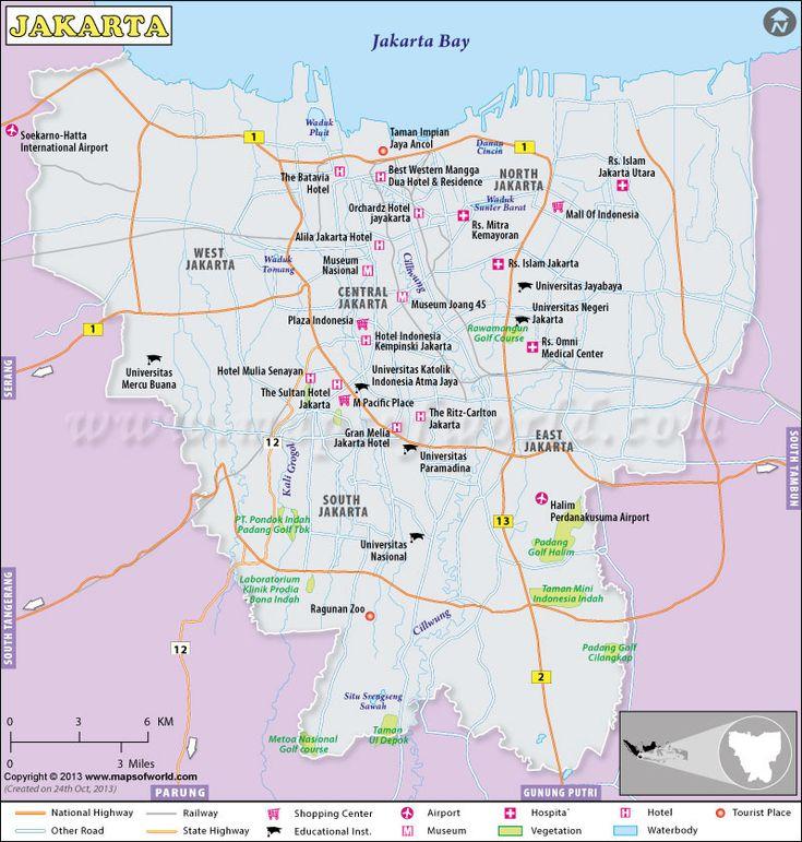 Kini, kamu bisa membuatnya sesuai dengan keinginanmu. Jakarta Map Map Print Images County Map
