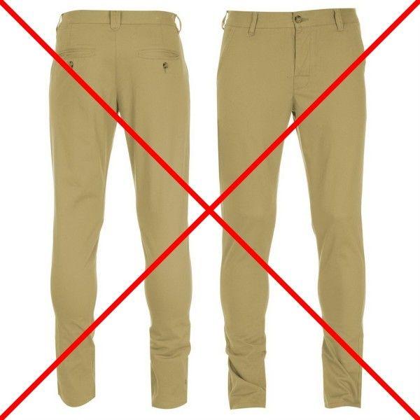 Nu te mai prezenta la nunta in pantaloni chino sau pantaloni cu 5 buzunare – chiar daca nuntile se organizeaza vara cand temperaturile sunt destul de ridicate, nu este adecvat sa te prezinti la un eveniment atat de formal in haine de bumbac. Pantalonii chino si 5 pocket sunt casual, nu se poarta la nunta.