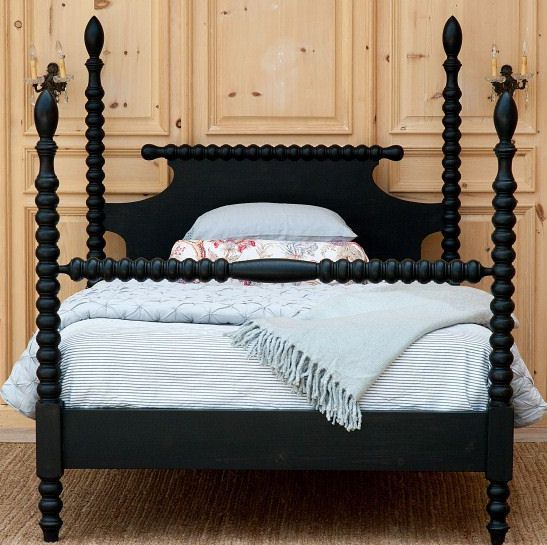 Details about spindle bed four poster queen size solid for Wooden four poster bed