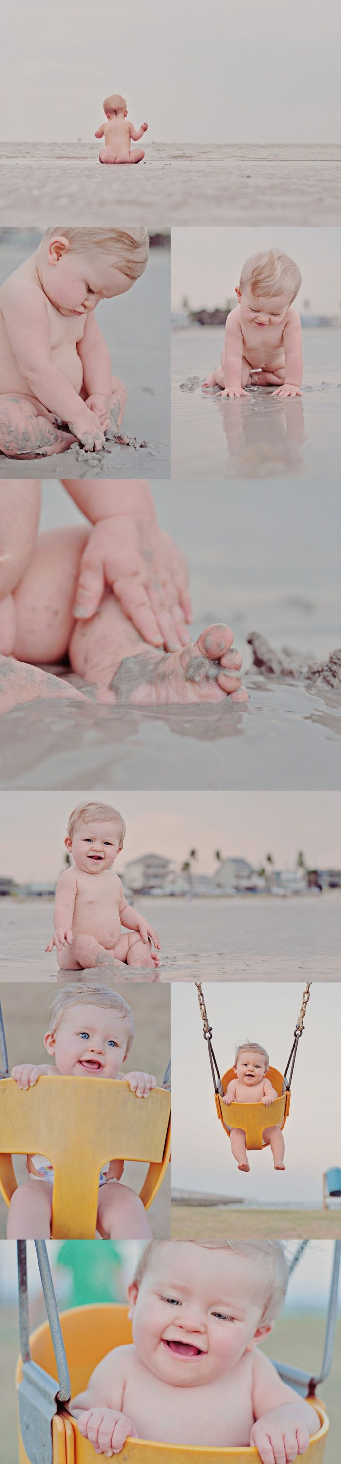 Theres something about a little cubby nudie baby at the beach!
