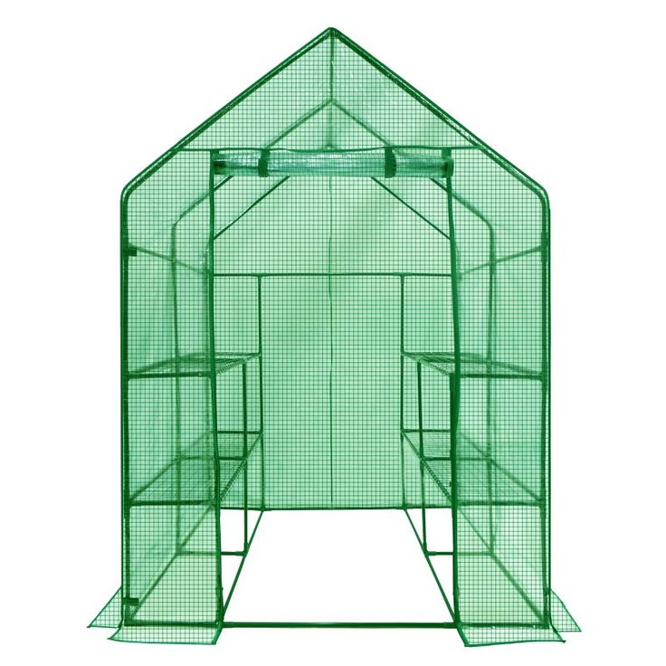 Ogrow Deluxe Walk-In Greenhouse with Cover - 2-Tier 8-Shelf