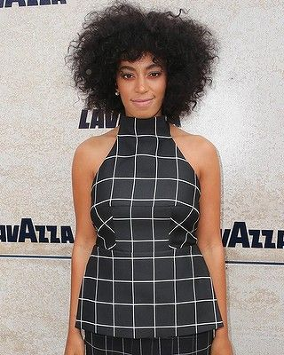 #SolangeKnowles arrives at the Lavazza Marquee on Derby Day.