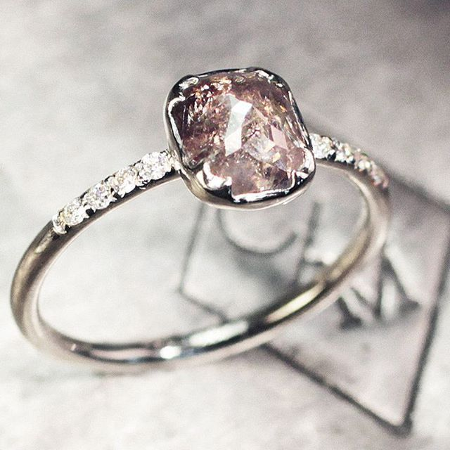 1.37 carat dark champagne diamond ring. chincharmaloney.com