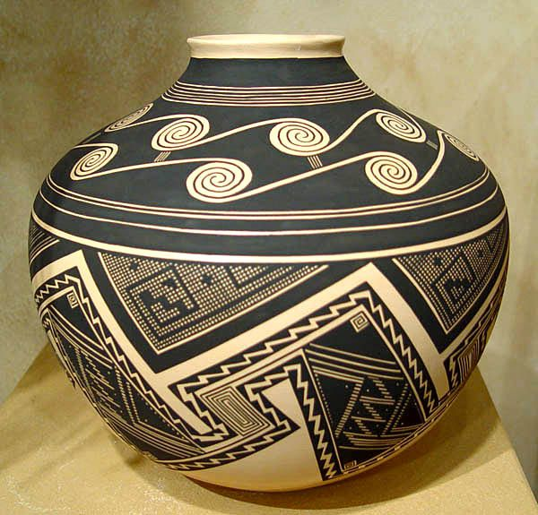 """Sand Storm"" - Native American Ceramic Pottery Designs by Bertha Tom"