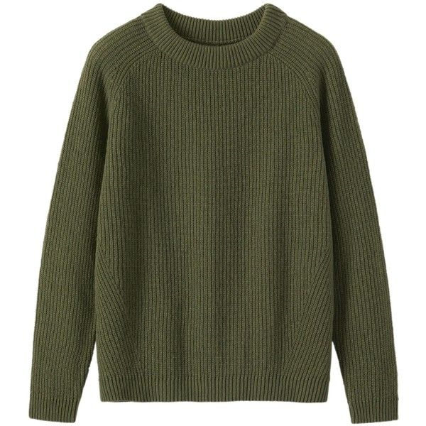 Toast Ribbed Wool Sweater ($190) ❤ liked on Polyvore featuring tops, sweaters, olive, raglan sweater, long wool sweater, olive sweater, ribbed sweater and long tops