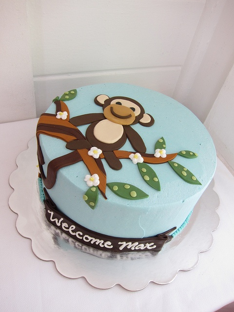 17 best images about monkey cakes on pinterest 1st birthday cakes birthday cakes and monkey - Monkey baby shower cakes for boys ...