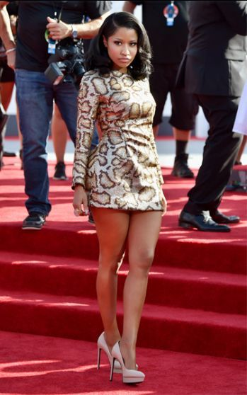 Nicki Minaj photographed on the red carpet at the 2014 MTV Video Music Awards in Inglewood, California. | MTV Photo Gallery