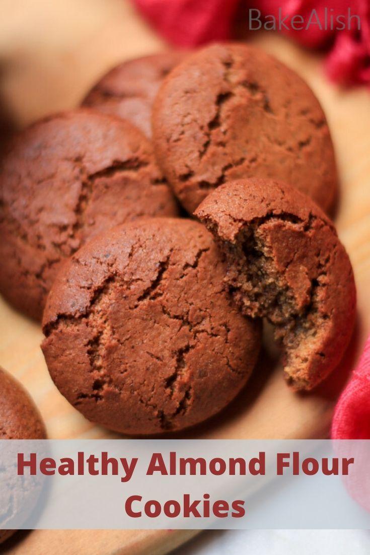 Healthy Almond Flour Cookies Breakfast Cookies No Flour Eggless Recipe In 2020 Almond Flour Cookies Breakfast Cookies Desserts