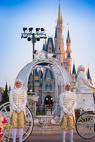 Brides can even arrive at the ceremony in Cinderella's coach. | Brides Can Be Cinderella For A Day With Disney World's New Wedding Experience