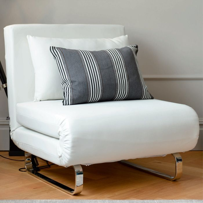 Bedroom Decoration Single Convertible Chair Modern Chair Bed White Sleeper Chair Sofa Armchair Bed Single Fo Single Sofa Bed Chair Single Sofa Bed Armchair Bed