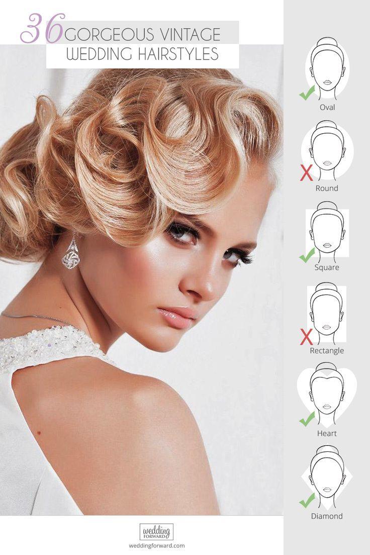 36 Vintage Hochzeitsfrisuren für wunderschöne Bräute – My bridal hair