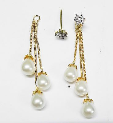 Indian Ethnic Bollywood Earring Stud Drop Dangle Gold Tone Women Fashion Jewelry