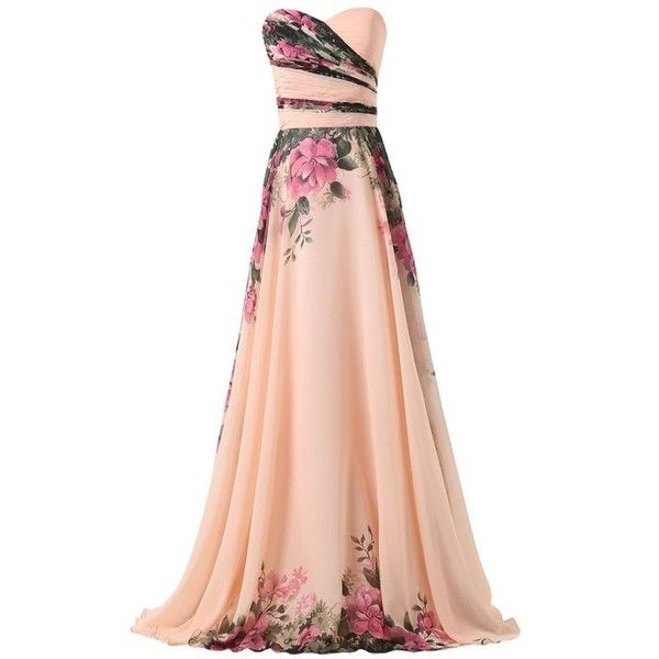 GRACE KARIN Bridesmaid Party Dress Vintage Evening Flower Prom Dresses... ($69) ❤ liked on Polyvore