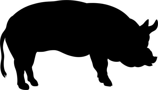 Pig Wall Stencils