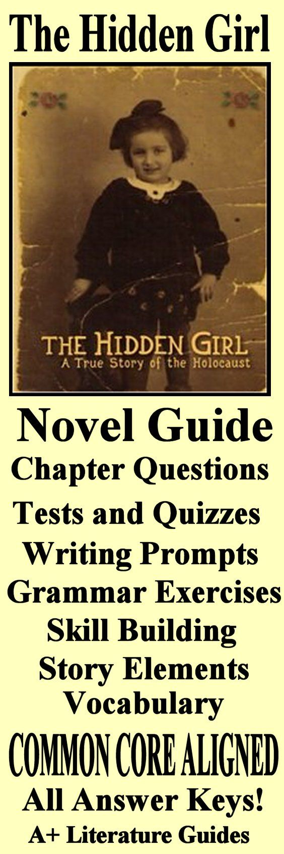 This is an 88 page Complete Literature Guide and Assessment Pack for The Hidden Girl by Lola Rein Kaufman. This is the true story of her experiences as a Jewish child hiding in World War II Poland. This guide includes everything you need to teach and assess the novel including chapter questions and answers, weekly quizzes and final test, interactive activities, writing assignments, a pacing guide and much, much more! Just print and go!
